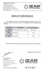 Сертификат IZAR